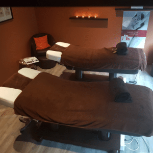 Cabine de massage duo, men'ly institut Rennes