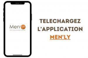 Bannière de téléchargement de l'application Menly institut